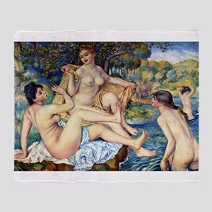 Renoir The Large Bathers Throw Blanket